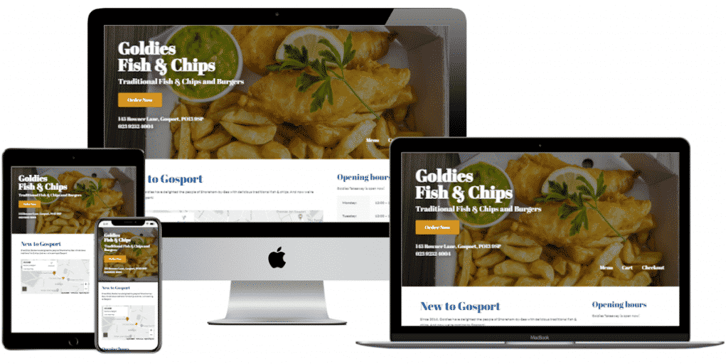 A fish & chips takeaway business website